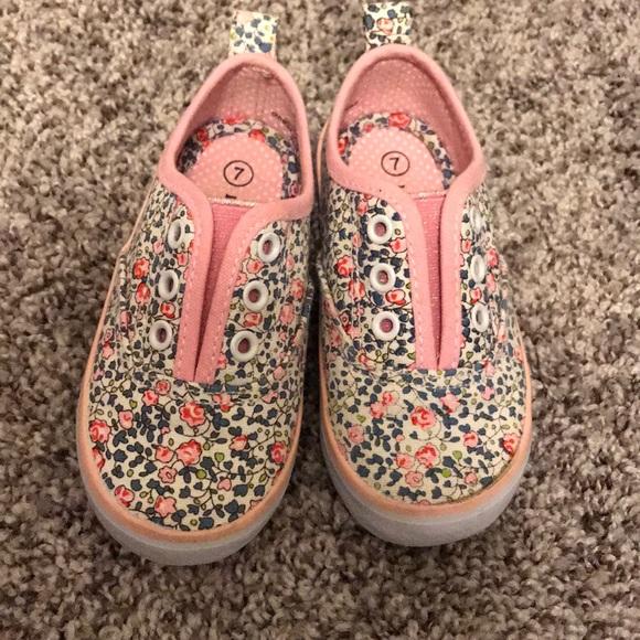 b828360f8b Floral Toddler Sneakers